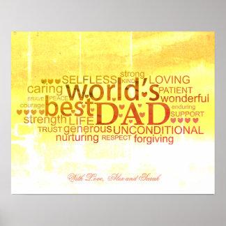Poster do dia dos pais, arte do poster do
