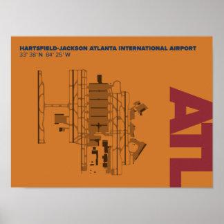 Poster do diagrama do aeroporto de Atlanta (ATL)