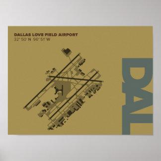 Poster do diagrama do aeroporto de campo do amor