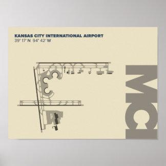 Poster do diagrama do aeroporto de Kansas City