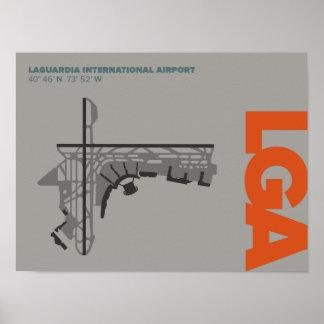 Poster do diagrama do aeroporto de LaGuardia (LGA)