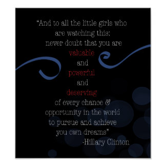 Poster do discurso da concessão de HRC
