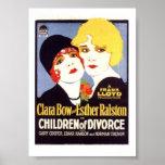 Poster do divórcio das crianças de Clara Bow Esthe