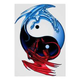 Poster do dragão de Yin Yang