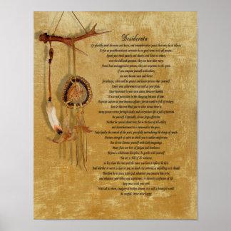 Poster do dreamcatch dos Desiderata