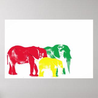 Poster do elefante de Rasta