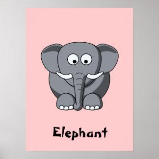 Poster do elefante dos desenhos animados