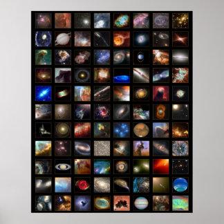 Poster do espaço de Hubble Pôster