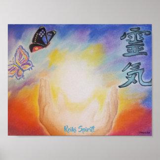 Poster do espírito 11x8.5 de Reiki