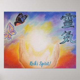 Poster do espírito 14x11 de Reiki