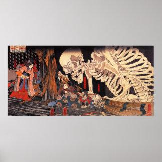 Poster do esqueleto de Kuniyoshi