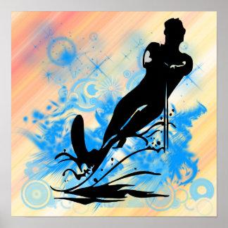 Poster do esqui aquático