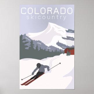Poster do esqui do vintage