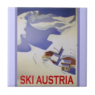 Poster do esqui do vintage, esqui Áustria