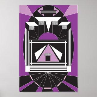 Poster do estilo do art deco