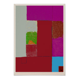 Poster do Expressionism abstrato de opinião do mar Pôster