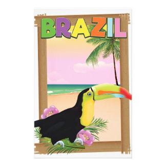 Poster do feriado da praia de Brasil Toucan Papelaria