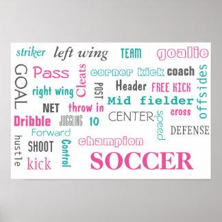 Poster do futebol! Grande maneira de indicar! Pôster