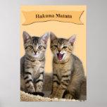 Poster do gatinho de Hakuna Matata Pôster