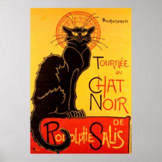 Poster do gato de Tournee du Conversa Noir