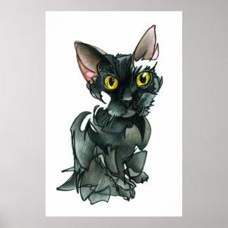Poster do gato preto (grande)