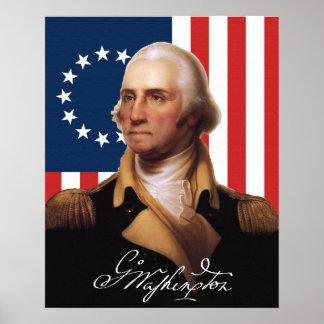 Poster do general George Washington Pôster