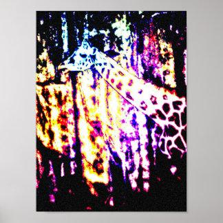 poster do girafa do arco-íris