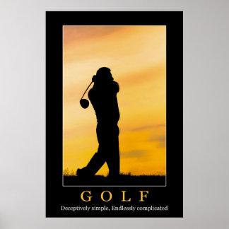 Poster do golfe pôster