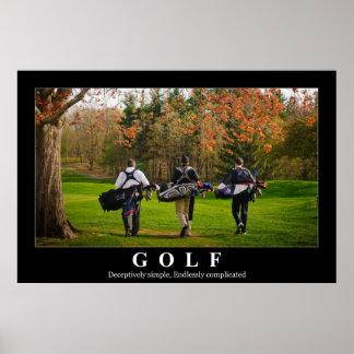Poster do golfe que caracteriza três amigos que an