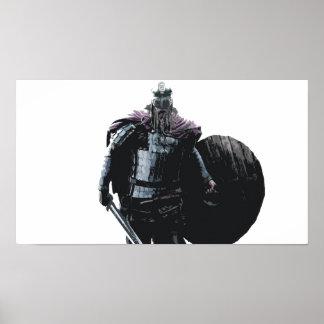 Poster do guerreiro de Viking