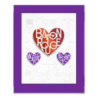 Poster do Heart® do amante de Baton Rouge Impressão De Foto
