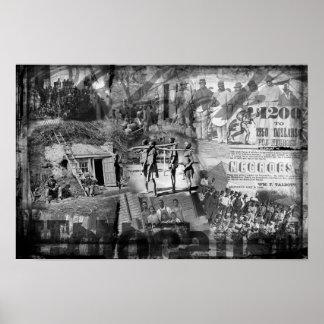 """""""Poster do holocausto preto"""" Pôster"""