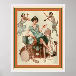 """Poster Do """"impressão 16 x 20 do art deco da viagem La"""""""