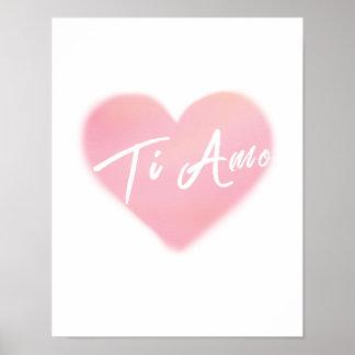 Poster do impressão da arte da aguarela do coração