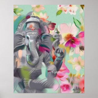 Poster do impressão da arte de Buddha Ganesha