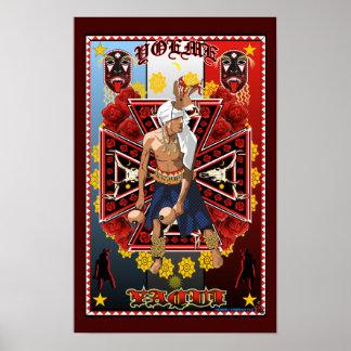 Poster do impressão da arte do dançarino dos