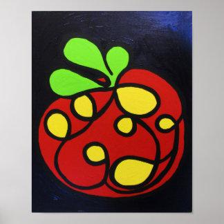 Poster do impressão da arte do tomate