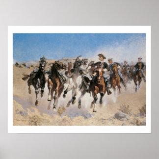 Poster do impressão da arte dos cavalos do fugitiv