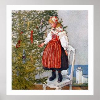 Poster do impressão das belas artes da árvore de N