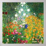 Poster do jardim de Gustavo Klimt
