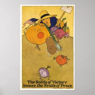 Poster do jardim de vitória do vintage