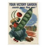 Poster do jardim de vitória, guerra mundial 2 1945 cartão postal