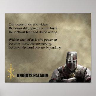 Poster do juramento do paladino dos cavaleiros