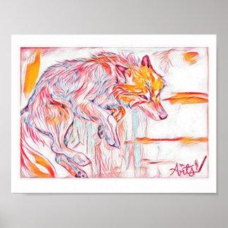Poster do lobo do fogo