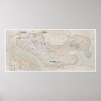Poster do mapa da árvore de Joshua