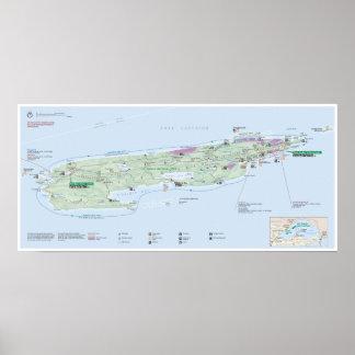 Poster do mapa de Royale da ilha (Michigan)