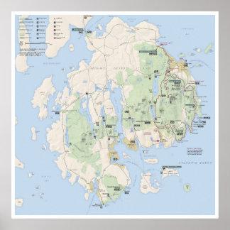 Poster do mapa do Acadia