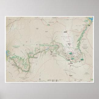 Poster do mapa do Grand Canyon