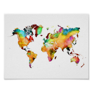 poster do mapa do mundo