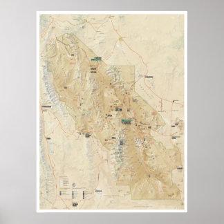 Poster do mapa do Vale da Morte